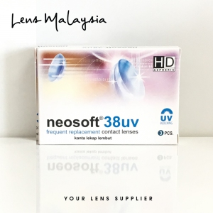 [1Box/3pcs] Neosoft 38UV Monthly Disposable Clear Contact Lenses (High power available)